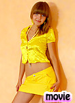 Brunette Nubile Alisa shows off her sexy teen frame in bright yellow