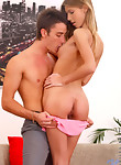 Nubile Ebbi makes her sweet pink pussy cum with her fingers